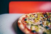 closeup photo of pizza