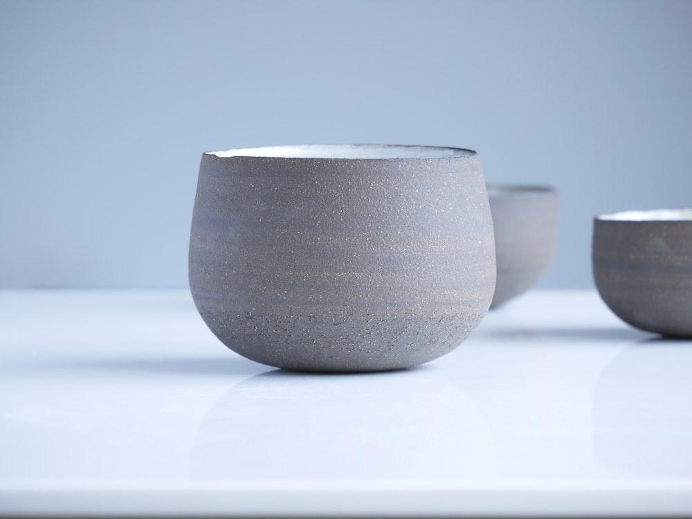 gray bowl close up photo
