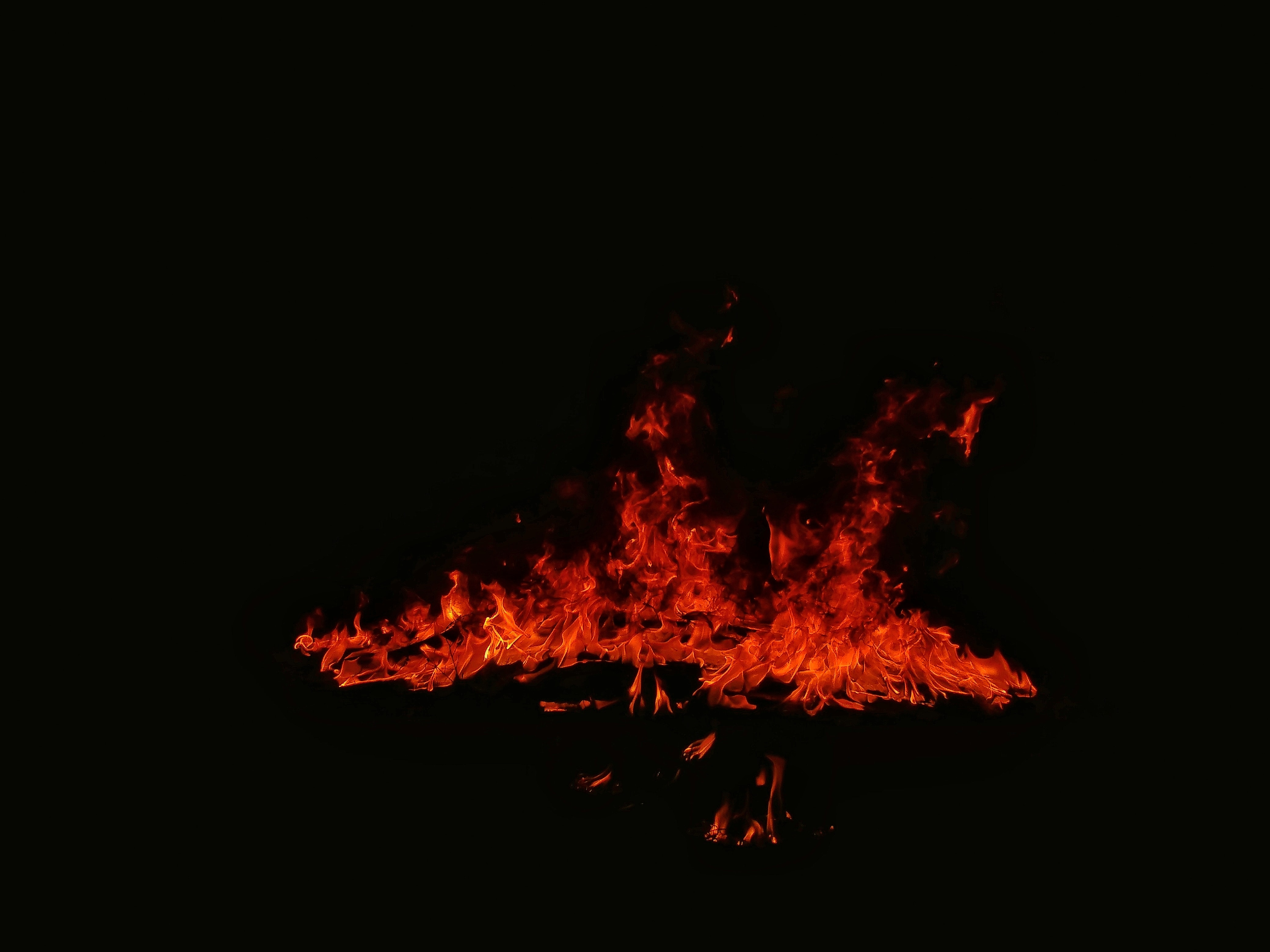 photo of bonfire during nighttime