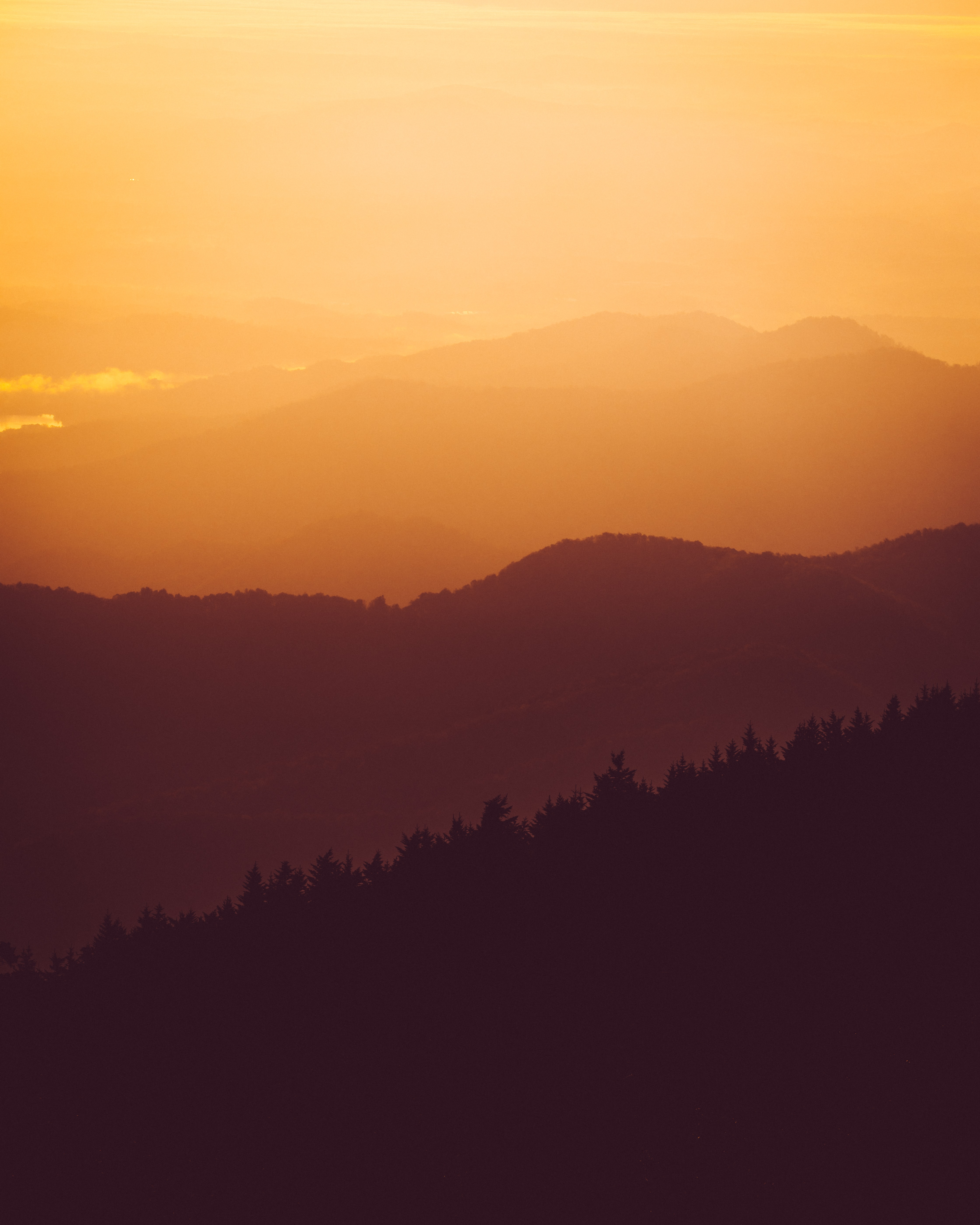 landscape photo of mountains at golden hour