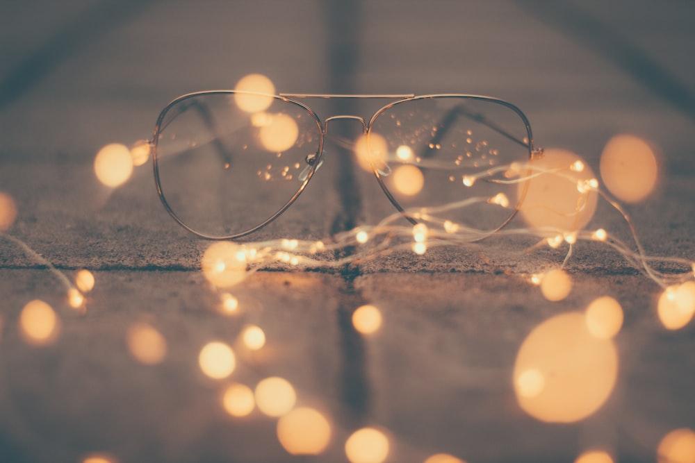 aviator eyeglasses with stainless steel frames