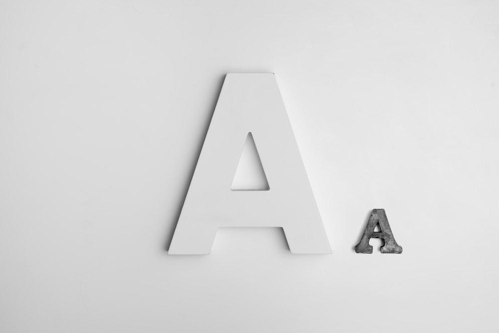 A decorative lettering