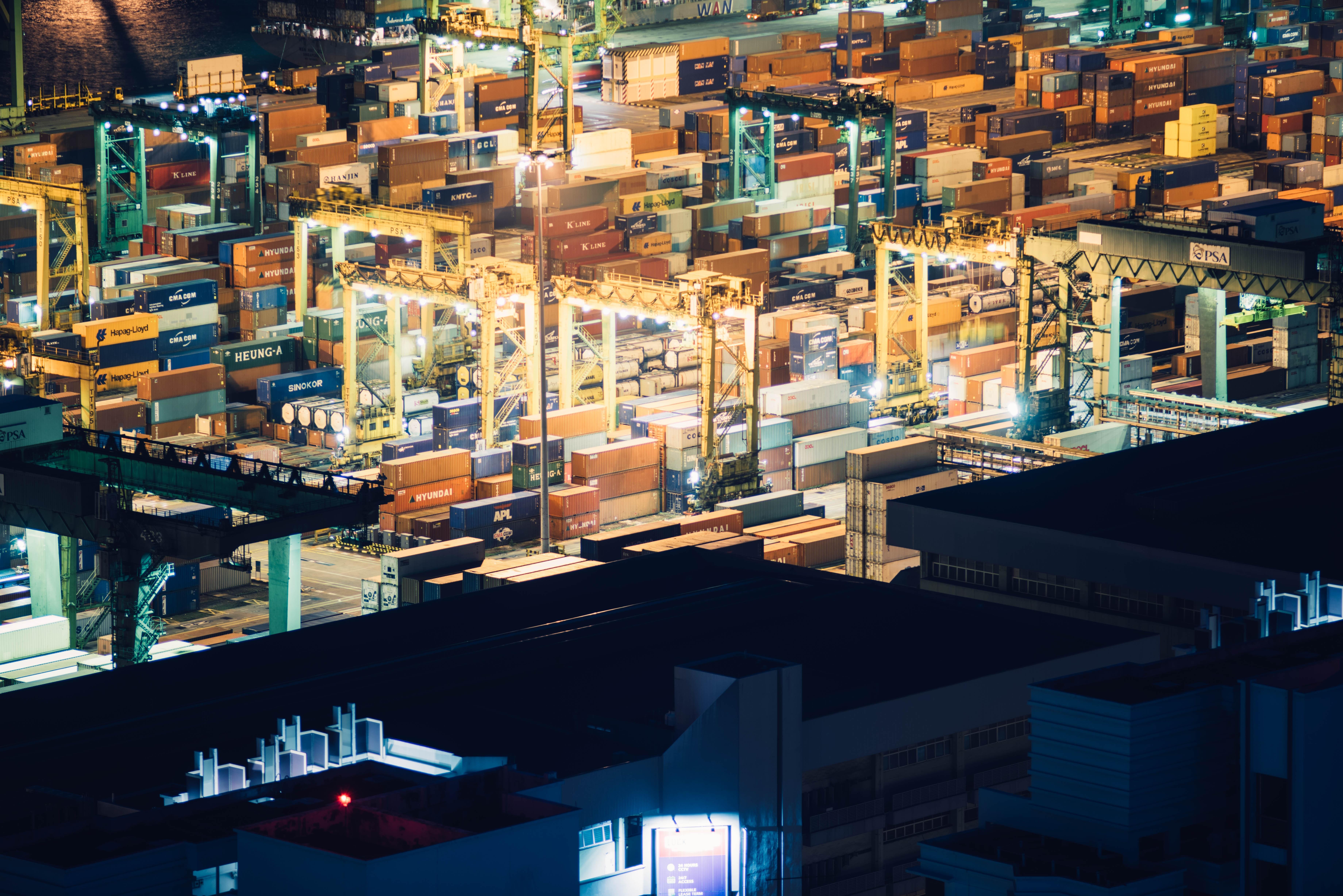 intermodal container wharf