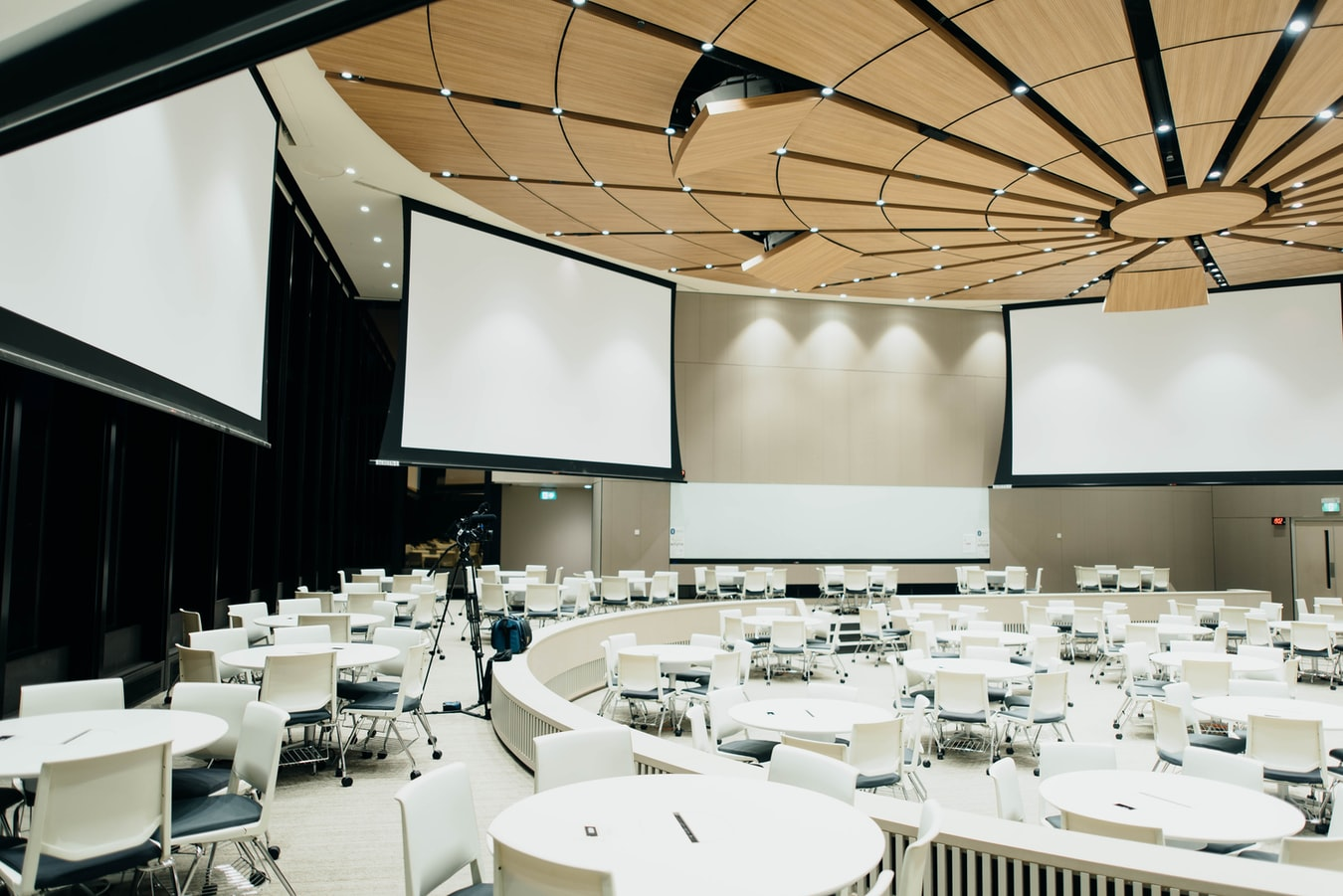 conference room for hybrid event