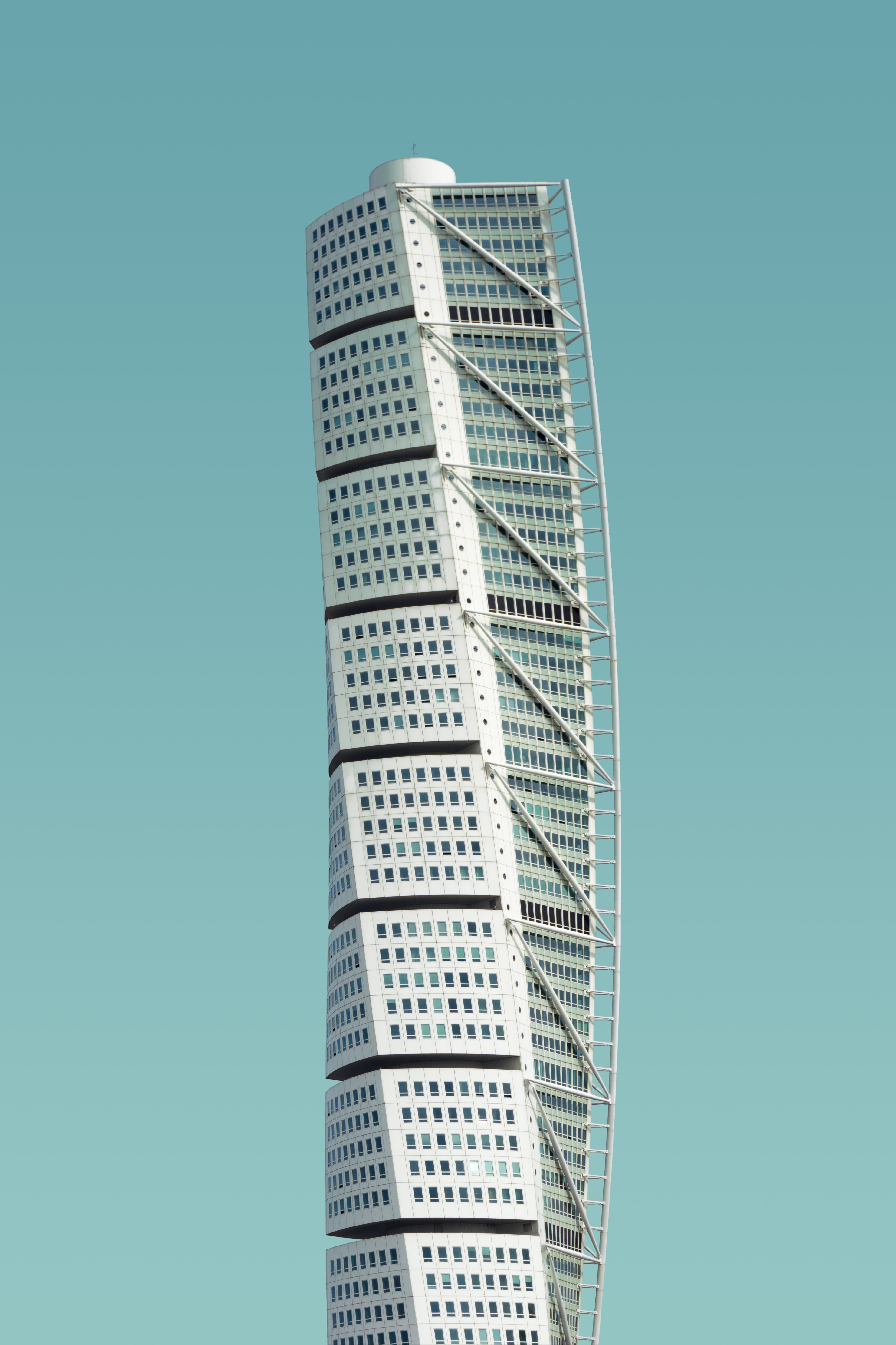 photo of white high-rise building