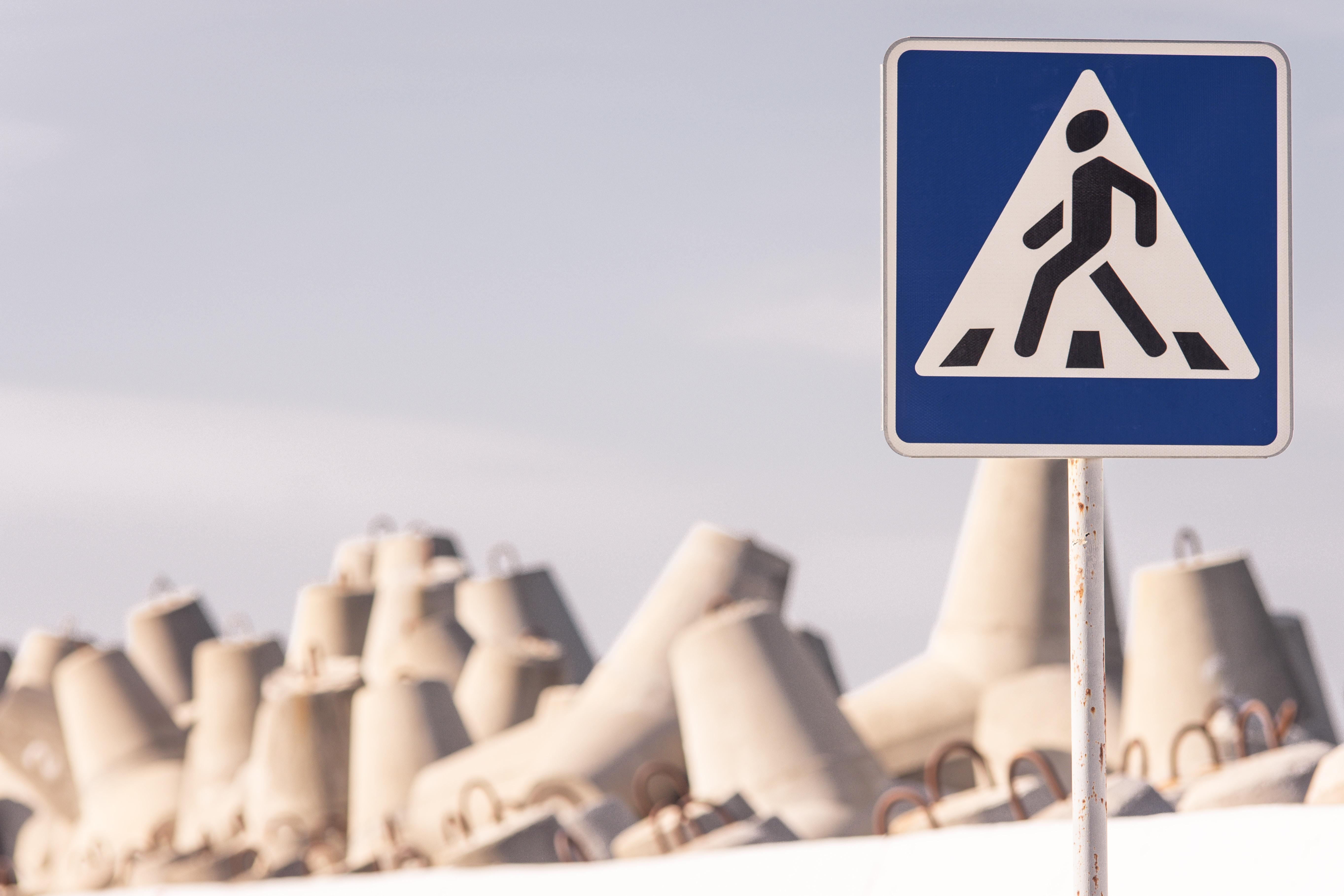 no walking signage