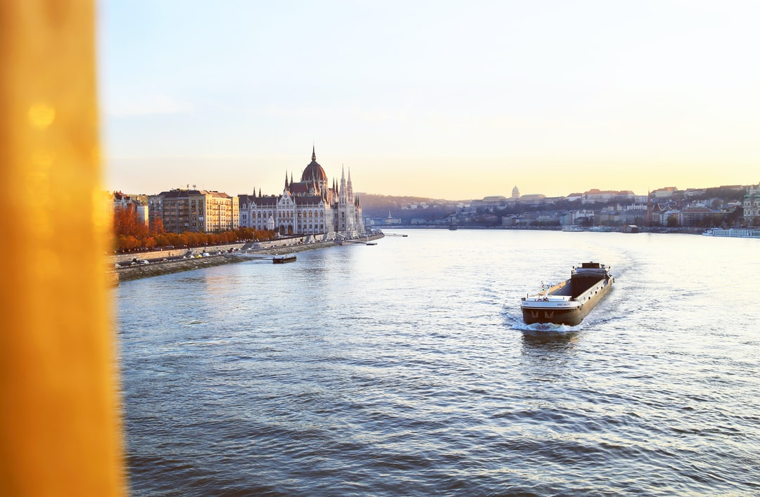 Beautiful view on Budapest from bridge