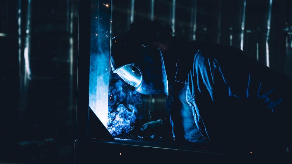 person wearing black helmet