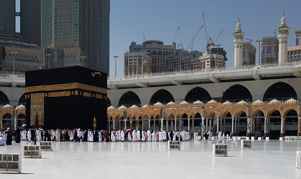 group of people on mecca