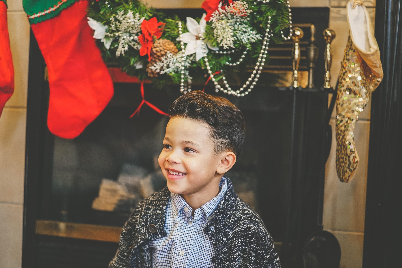 boy wearing gray collared top