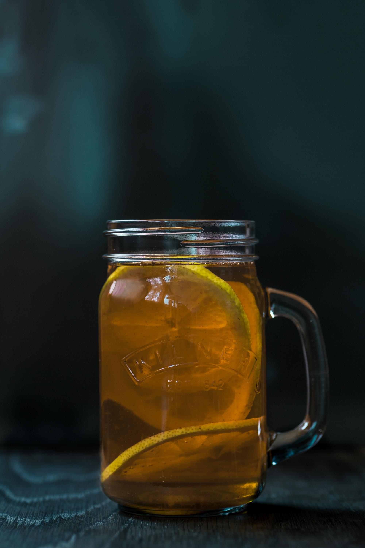lemon juice in mason jar