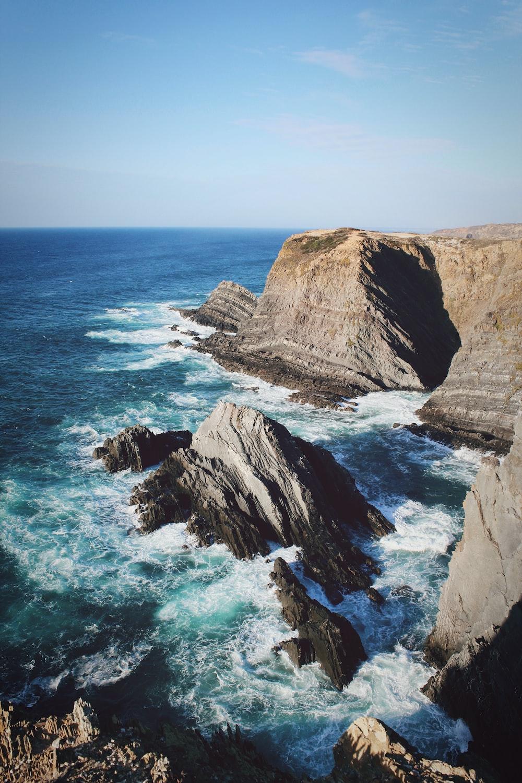 seaside cliff during daytime