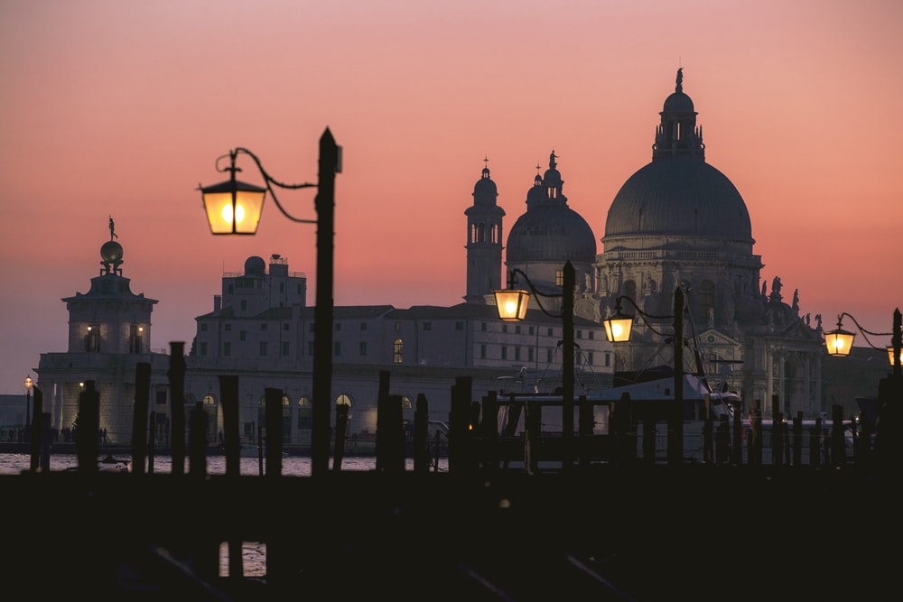 St. Peter's basilica during sunset