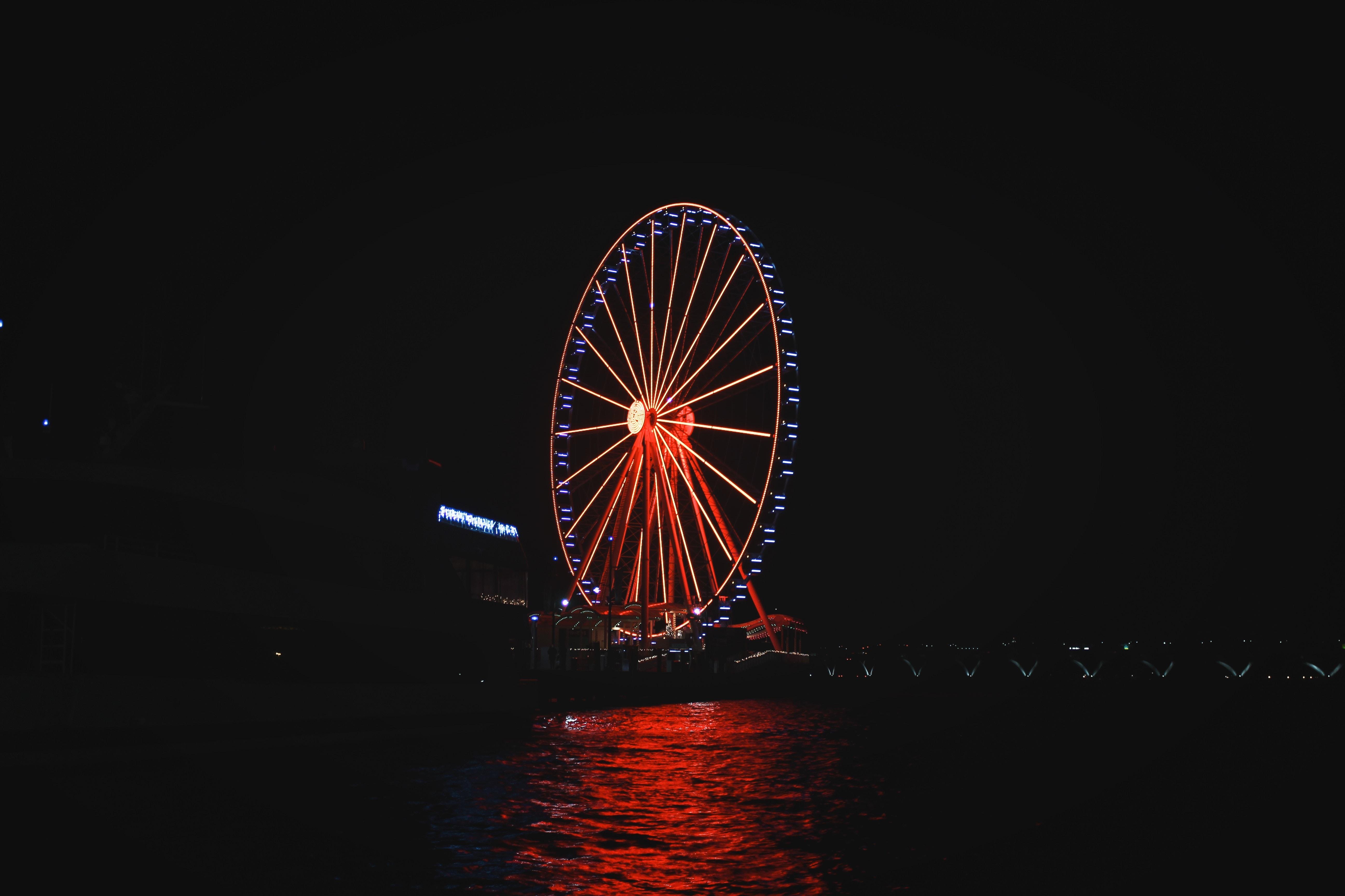London Eye during nighttime