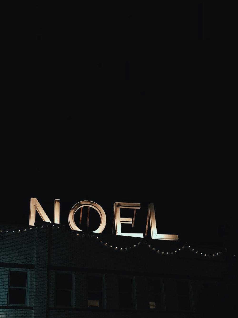 Noel neon light signage