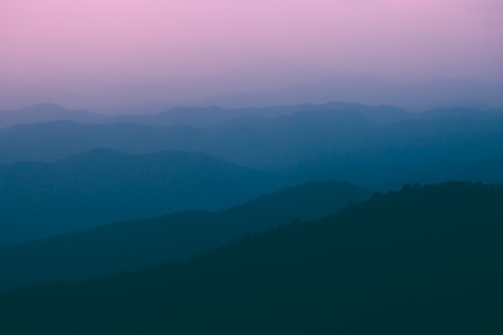 foggy mountain over the horizon