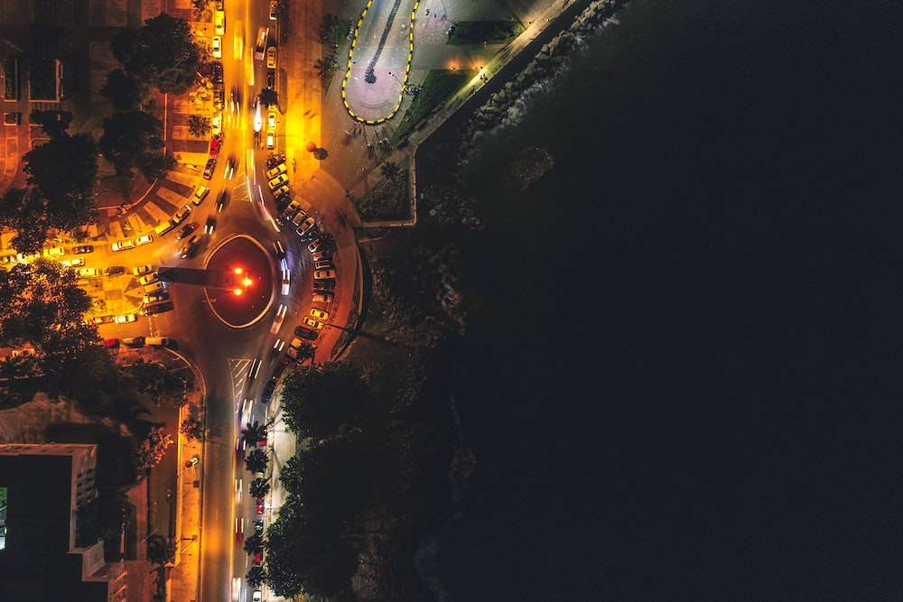 aerial photography of concrete city buildings