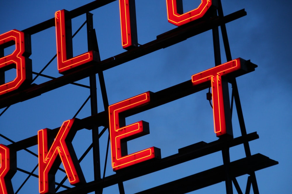 red neon marquee lights