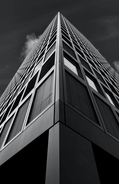 low angle photography building