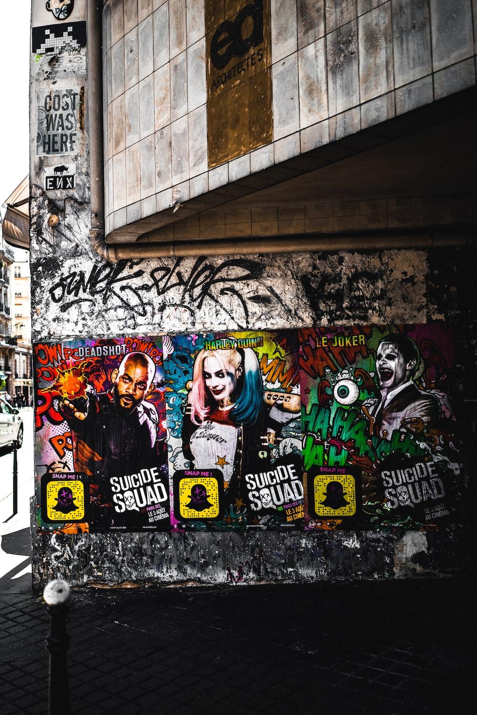 Suicide Squad wall graffiti