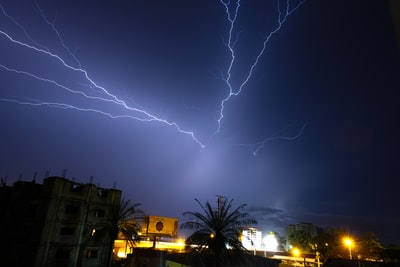 lightning during nighttime guinea teams background