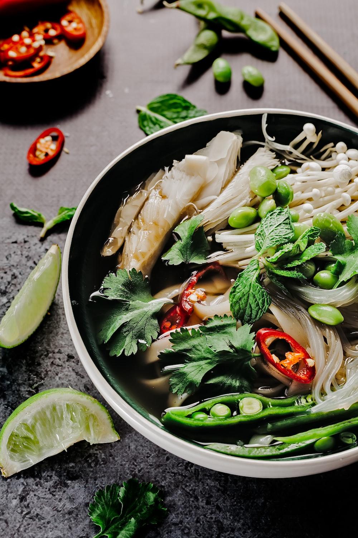 vegetables on cook pot