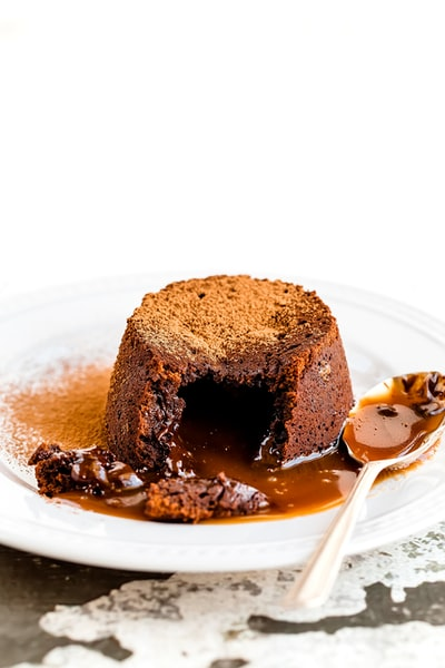 This indulgent pudding is one of my favourites. A lovely chocolate pudding releases it's surprise fill of salted caramel. My idea of heaven!