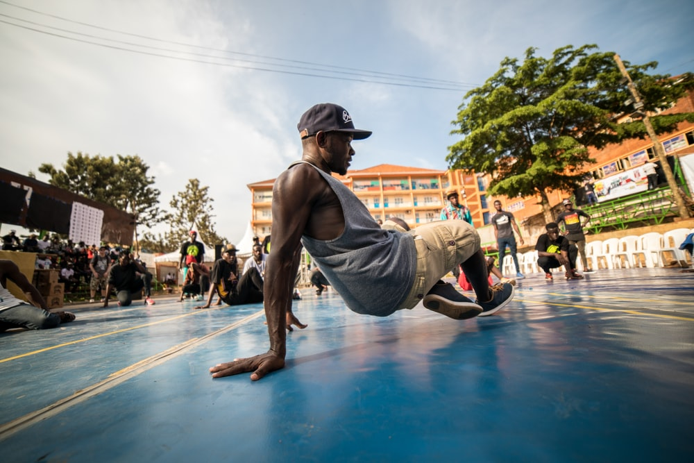 time lapse photography of man street dance