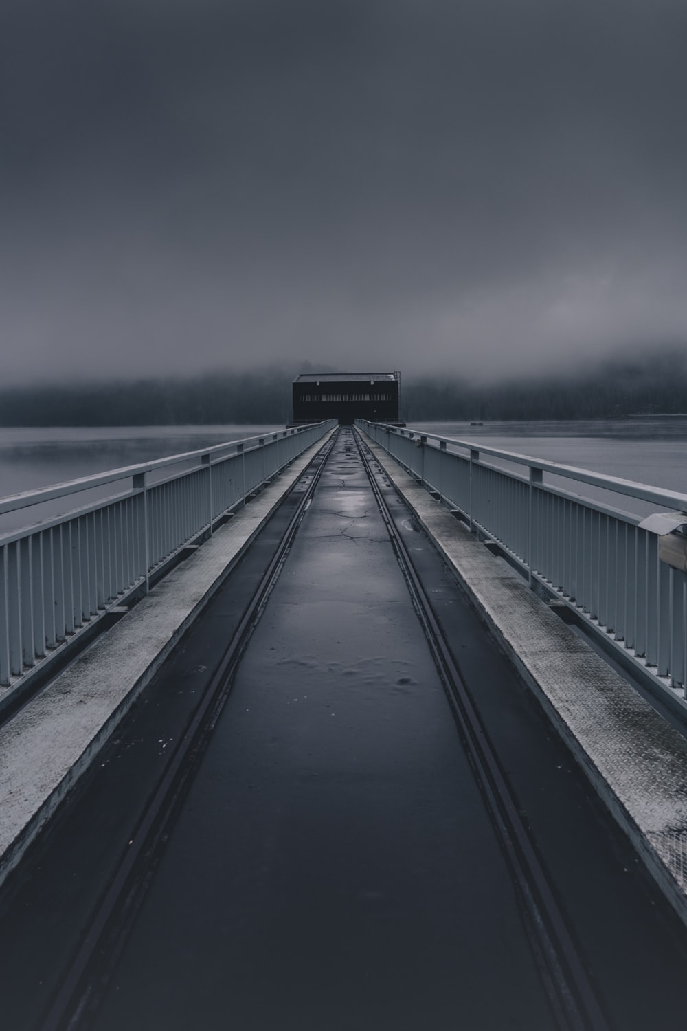 bridge under rainy weather