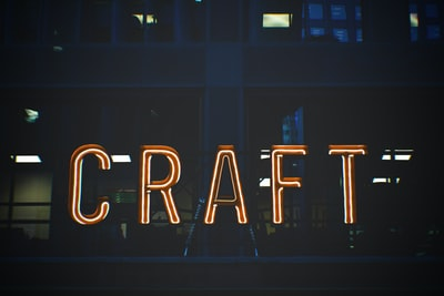 craft neon signage at nighttime craft zoom background