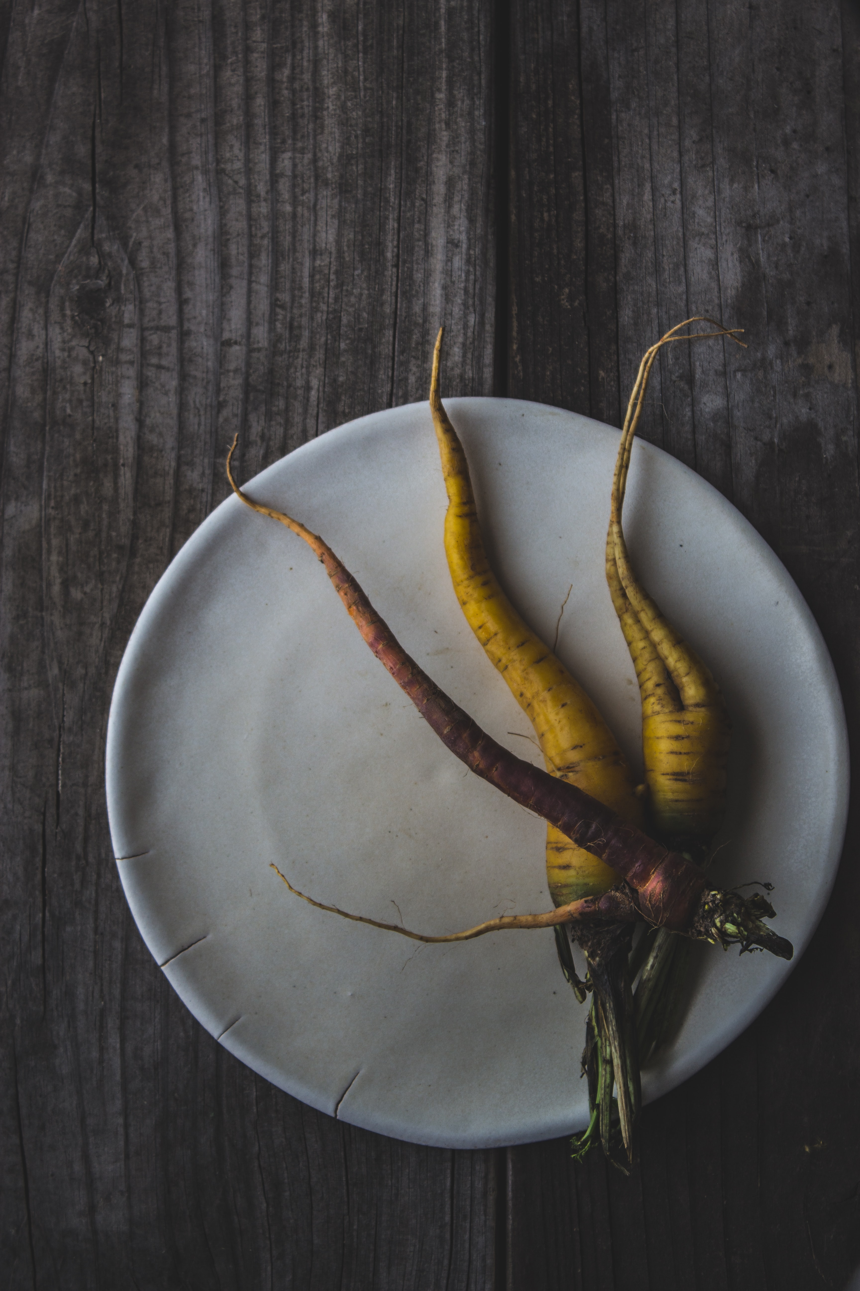 three carrots on plate