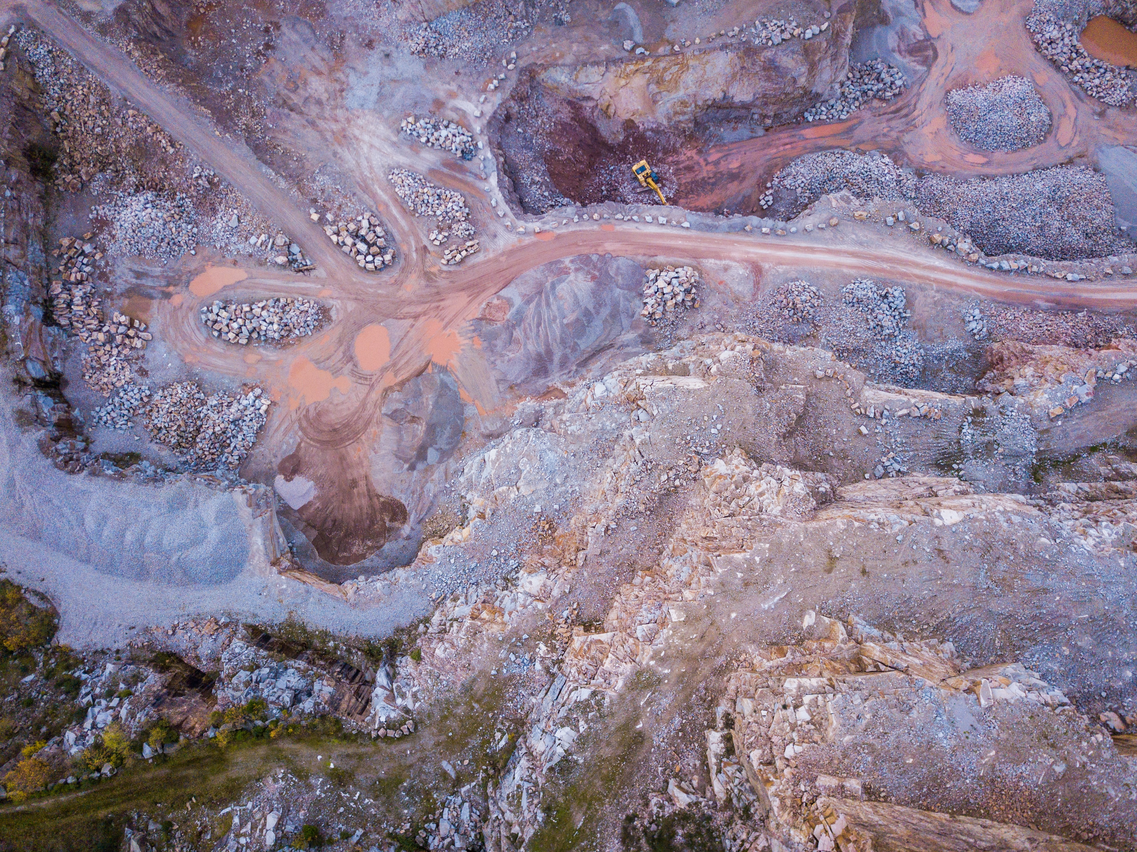 aerial photo of mining area at daytime