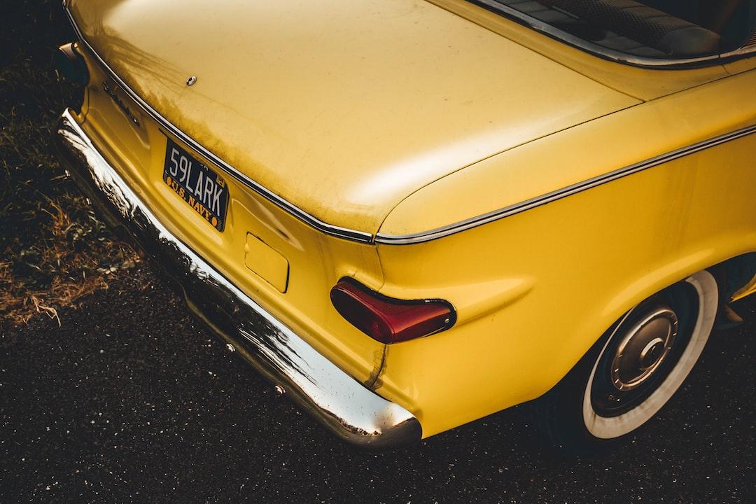 Yellow 1959 Studebaker Lark