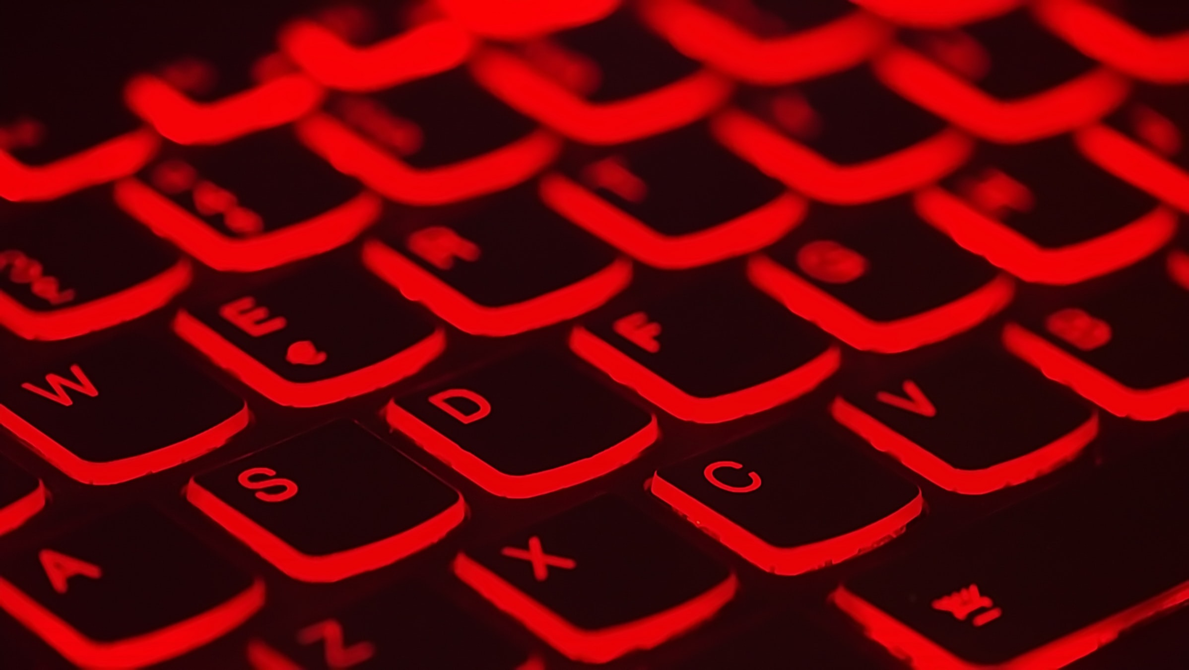 red lighted keyboard