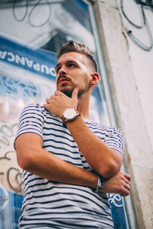 man posing photography