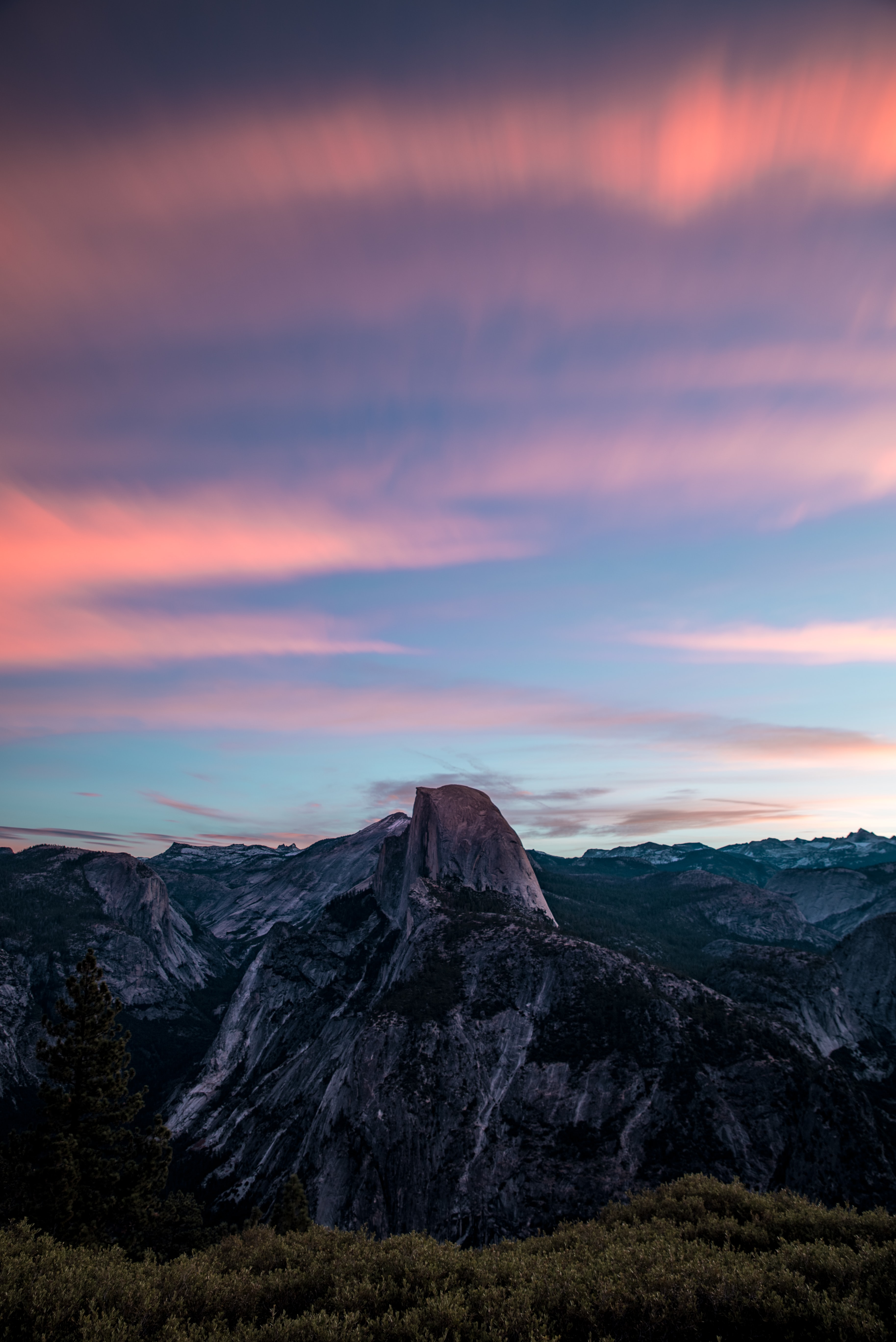 landscape photography of gray mountain under horizon