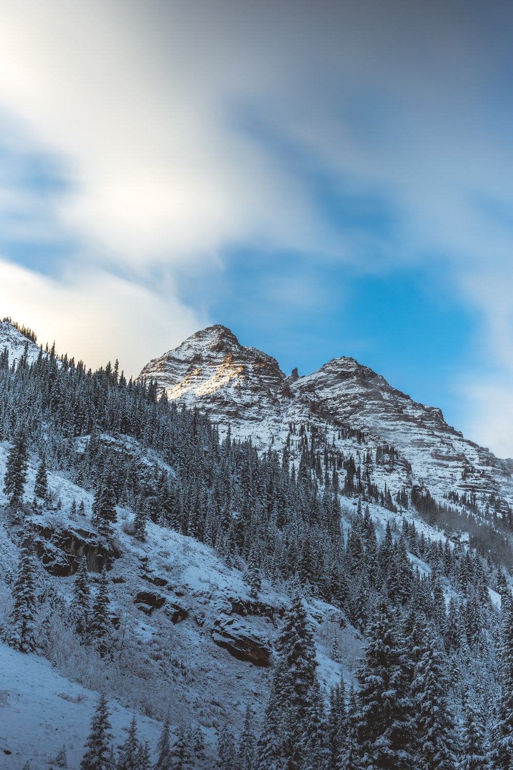 ice covered mountain during daytime