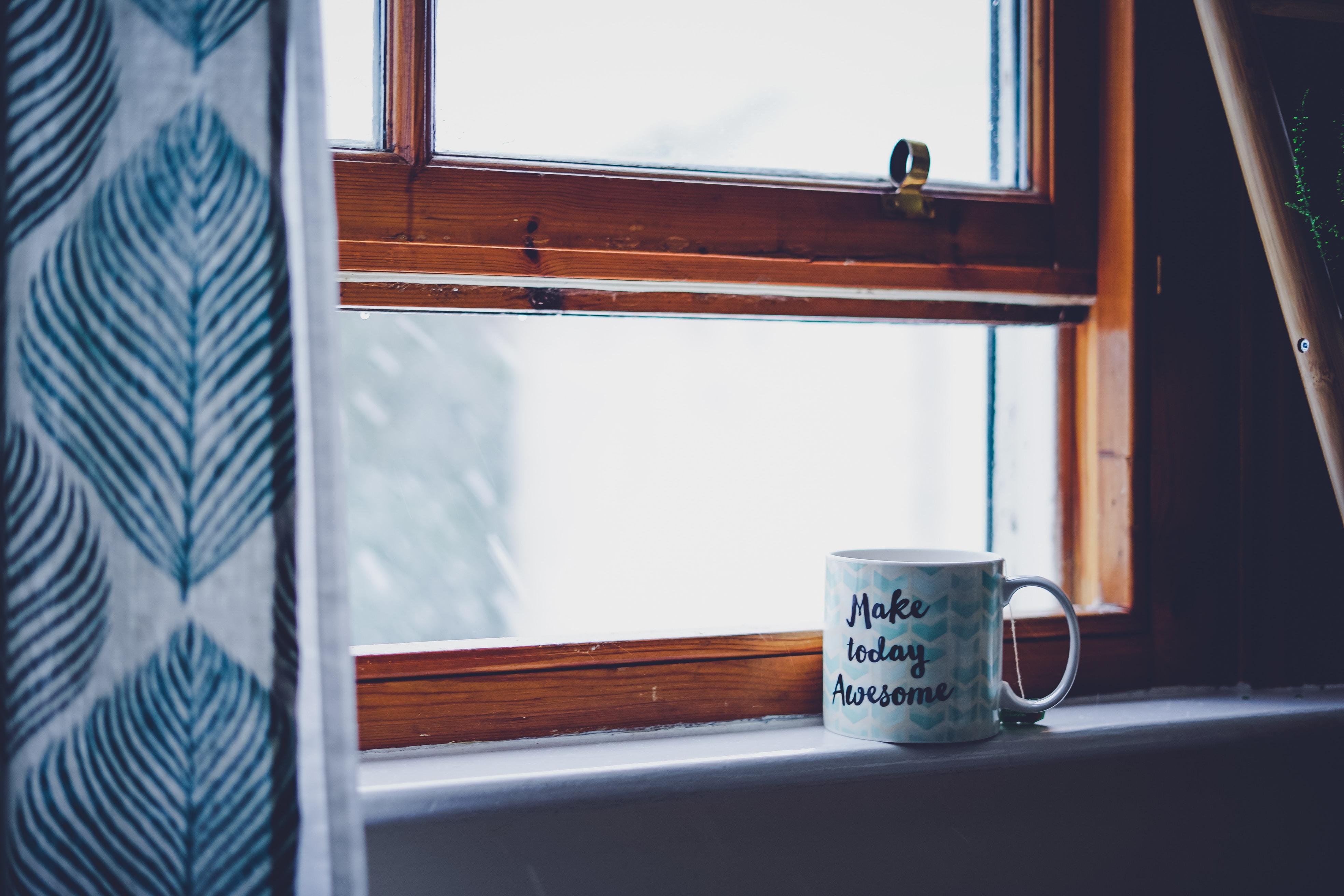 white ceramic in front windows