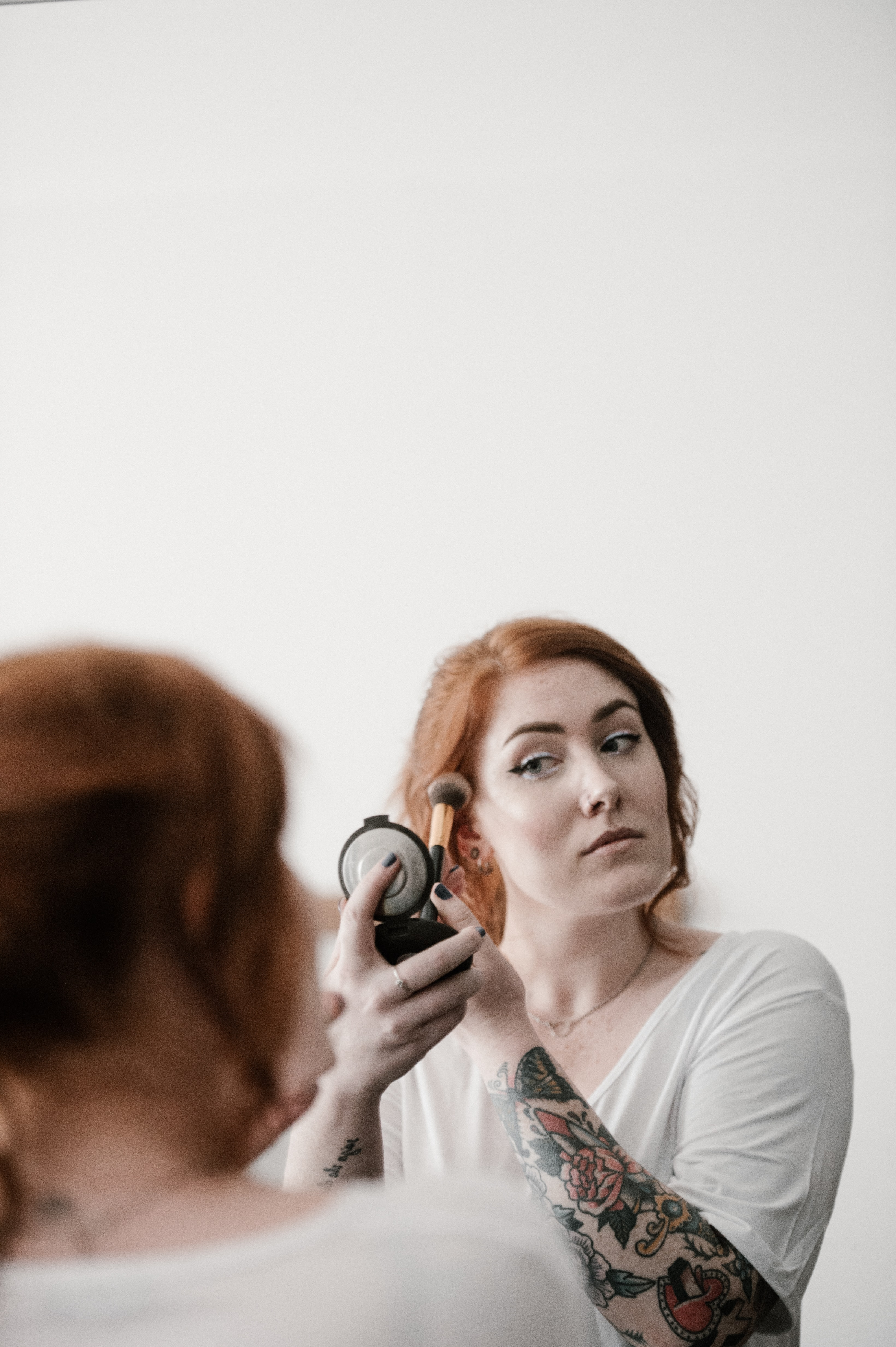 woman about to wear makeup