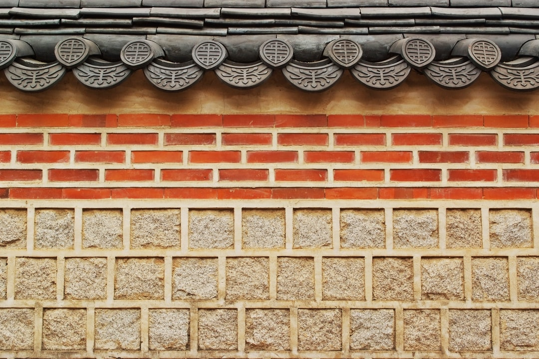 A Korean-style stone wall