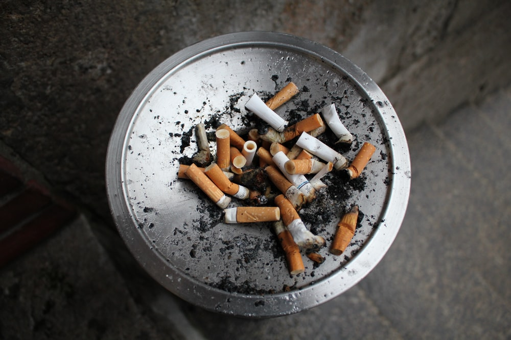 cigarette but on ashtray