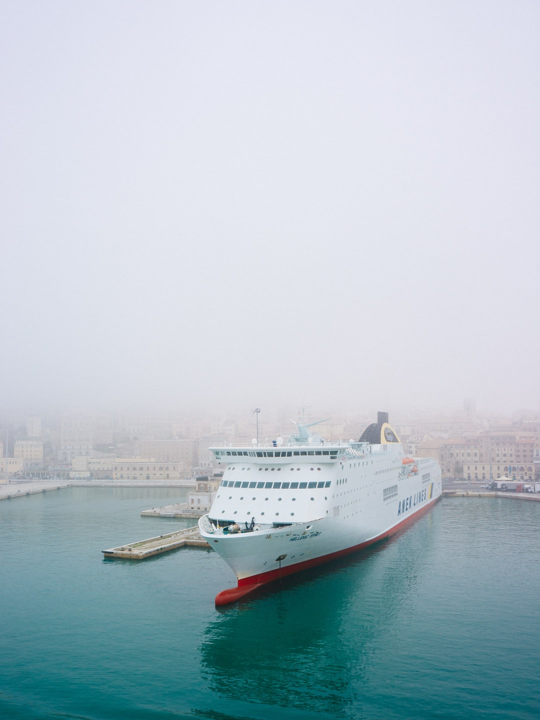 On our way to Greece we made a little stopover in Ancona, Italy and were greeted by a rolling wall of fog.