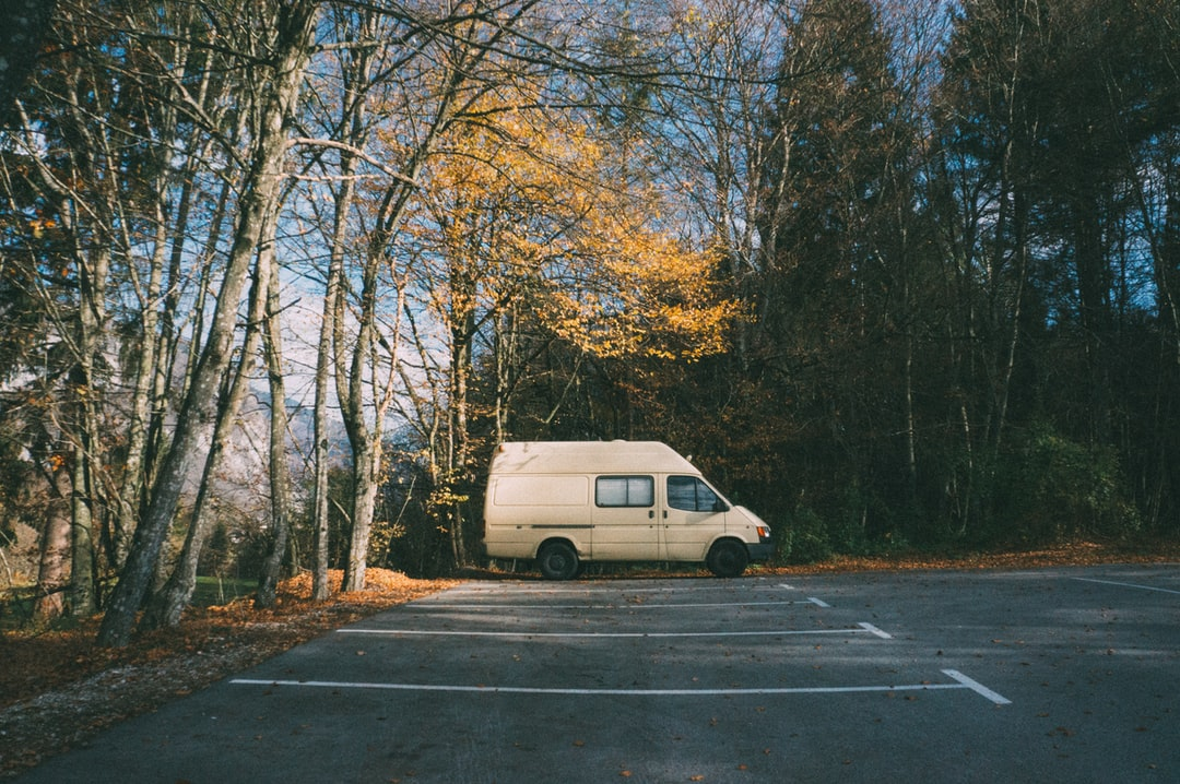 Sometimes a little parking lot is enough to feel at home. We were the only ones around when visiting the national park in Slovenia
