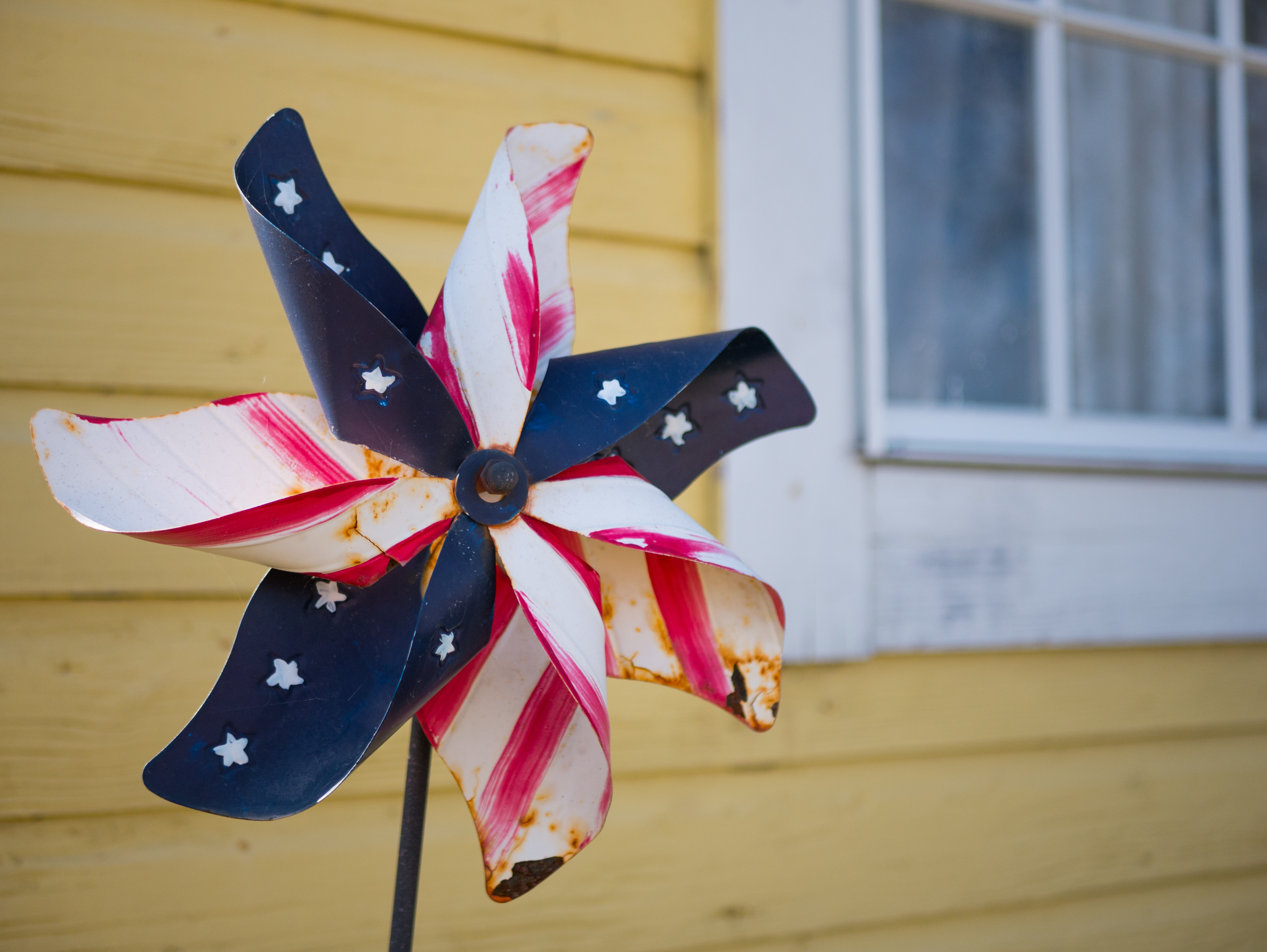 US flag themed fan