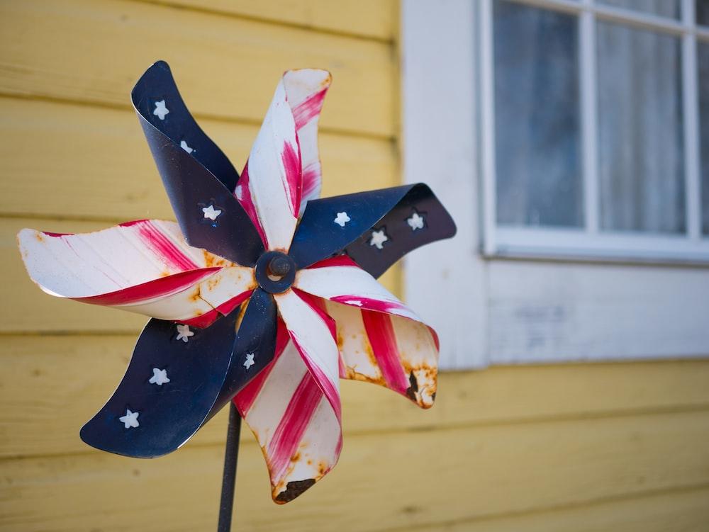 US flag themed fan