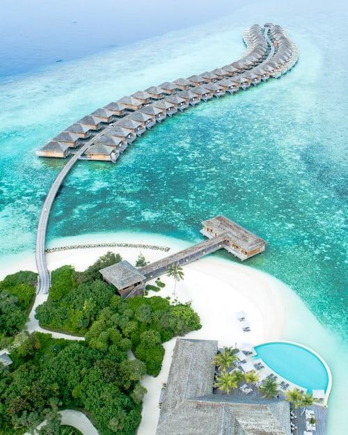 Hurawalhi Island resort . Honeymoon resort in Maldives