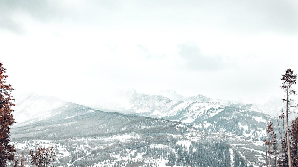 photo of snowy mountain