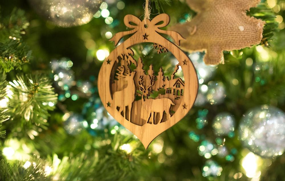 cork artwork deer ornament