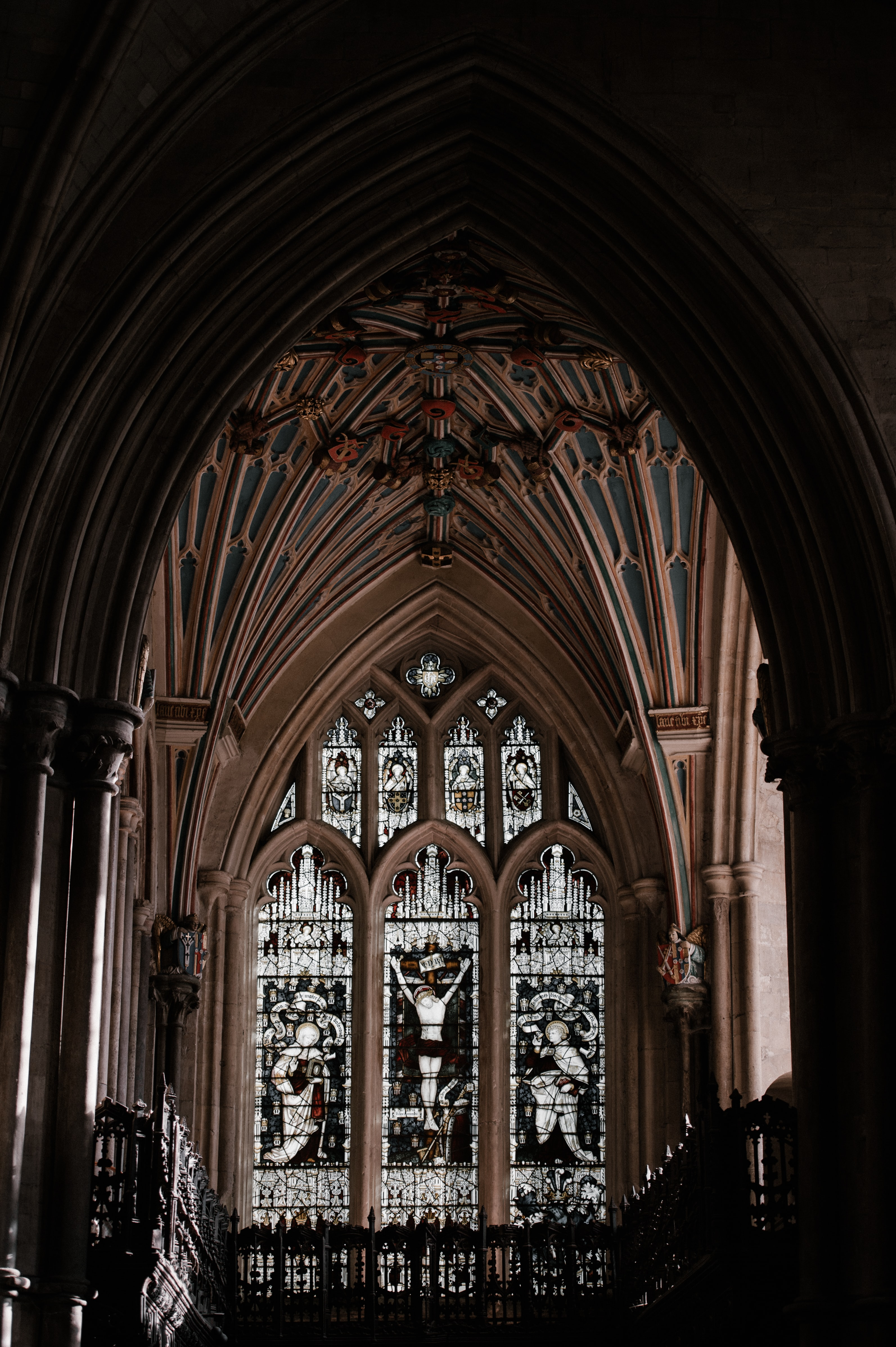 person took a photo inside cathedral