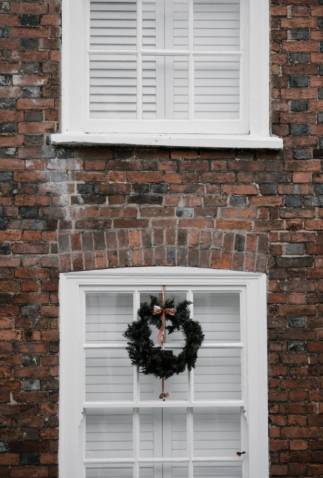 Christmas Wreath in Window